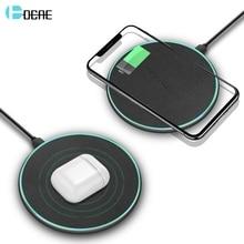 Chargeur sans fil DCAE Qi pour iPhone 8 X XS Max XR 11 Airpods 10W Charge rapide pour Samsung S8 S9 S10 Note 10 9 chargeur de Charge rapide