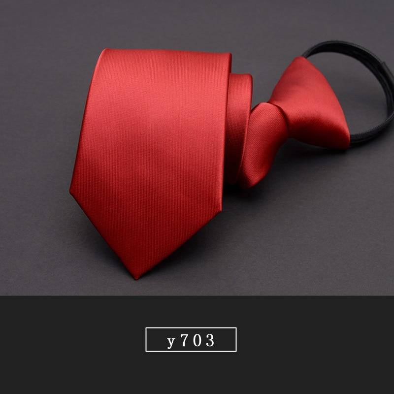 High Quality 2019 New Fashion Ties Men Formal Suit Zipper 7cm Stripe Blue Black Tie Wedding Neckties Designers with Gift Box
