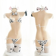 Cos Koe Cosplay Kostuum + Bikini Badpak Anime Meisjes Badmode Kleding Lolita Beha en Panty Set Kousen Vrouwen Lingerie Set