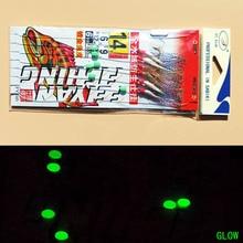 100packs 10 #12 #14 #16 #18 #19 #20 # vraie peau de poisson sabiki plates-formes de mer fort crochet de pêche haricots brillent dans lobscurité