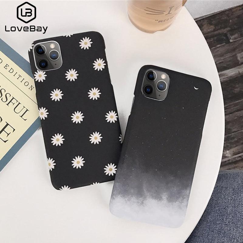 Funda de teléfono Lovebay con pintura de margaritas y flores para iPhone 11 Pro Max X XR XS Max 8 7 6 6s Plus, funda rígida de policarbonato Ultraslim para iPhone 7 Plus