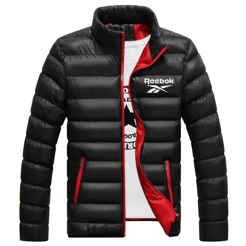 Новинка, зимние куртки, парка, Мужская теплая верхняя одежда на осень и зиму, брендовые облегающие мужские пальто, Повседневная ветровка, ст...