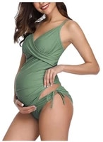 sexy women one piece swimsuit maternity tankinis women summer solid swimsuit beachwear pregnant suit