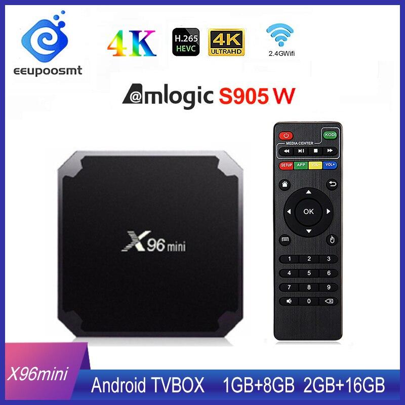 X96 mini Android TV BOX X96mini Android 7,1 Smart TV Box 2GB 16GB Amlogic S905W Quad Core 2,4 GHz WiFi Android 9,0 1GB8GB