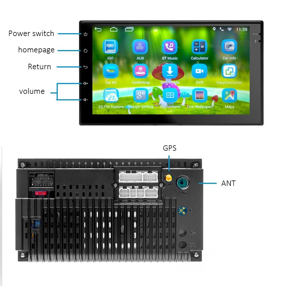 راديو السيارة الاندورويد 7 بوصة 2din لتحديد المواقع والملاحة USB واي فاي 2 الدين العالمي واي فاي متعدد الوسائط 7 بوصة راديو السيارة لاعب
