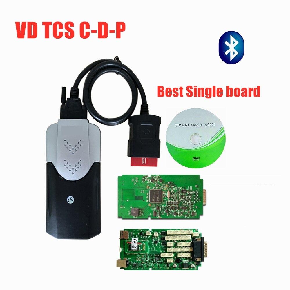 Tablero único de calidad A + con relé NEC Bluetooth 2016,00/2015,3 herramienta de diagnóstico coches/camiones OBD2 escáner como Mvd Multidiag