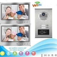 yobang security 9wired wifi apartments mutliple intercom 2 units calling button door access camera app control video door phone