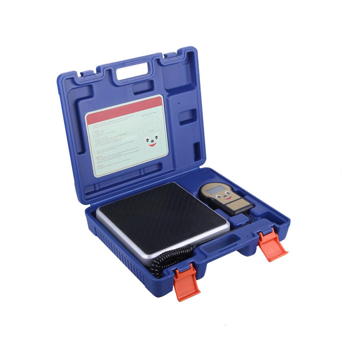 Escalas de Peso de Carregamento do Líquido Refrigerante da Escala Eletrônica de Digitas da Precisão Portátil de 100kg com Display Alta Digital Durável Lcd