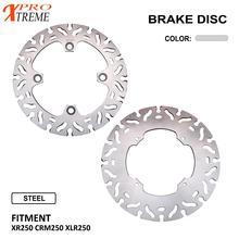 Motorcycle Front Rear Brake Disc Rotor Set For HONDA XR250 CRM250 XLR250 XR CRM XLR 250 Stainless Steel