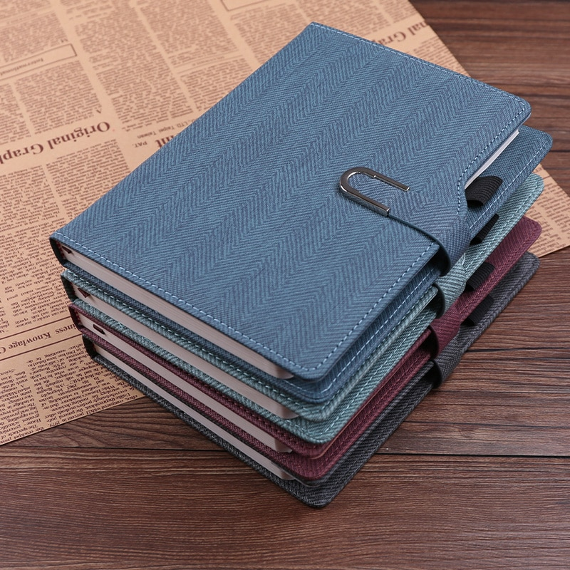 Notebook Thickened Diary Cover Office Leather Can Be Ccustomized Printing Logo Business Notepad Cuaderno Notebooks And Journals
