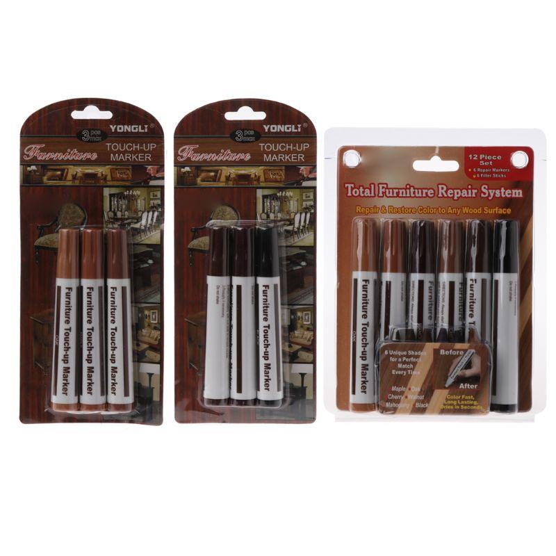 Wood Repair System Kit Filler Sticks Touch Up Marker Floor Furniture Scratch Fix недорого