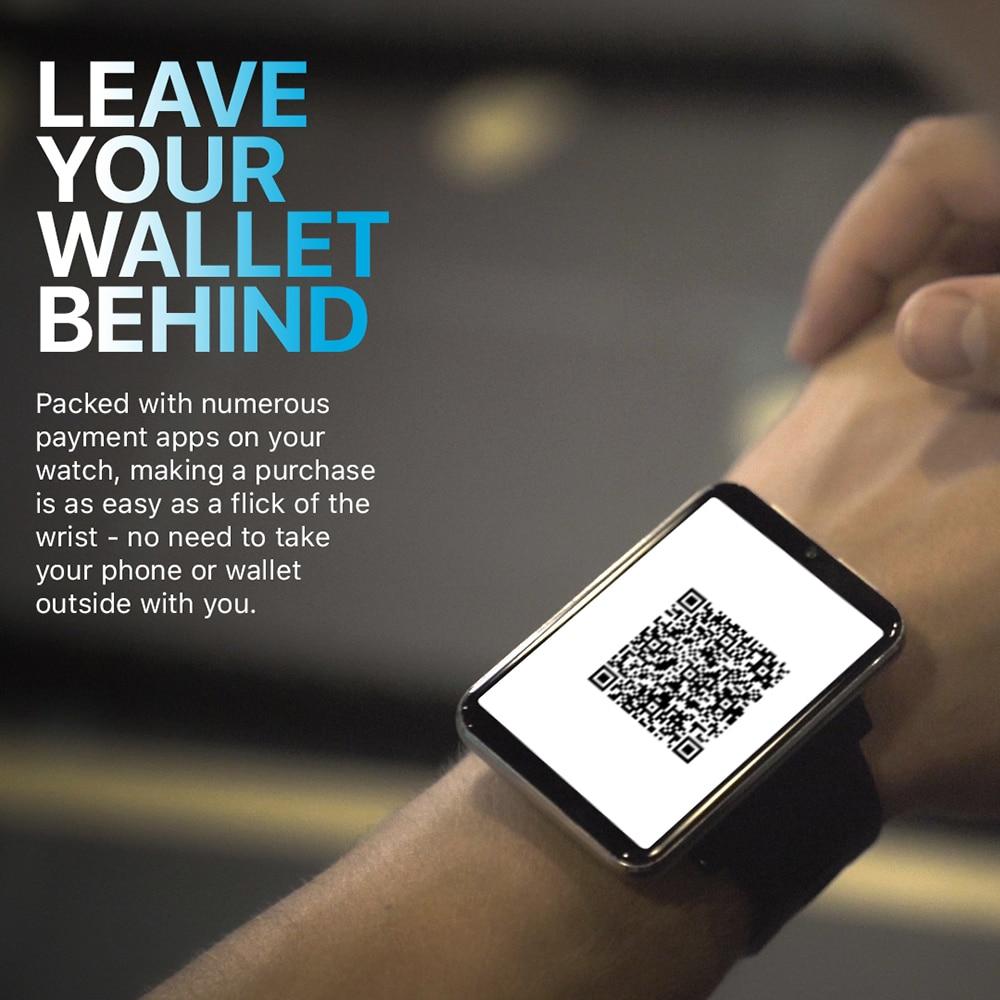 DM100 4G LTE Smart Watch Men Android 7.1 3GB 32GB 5MP Camera 2.86in Screen Bluetooth Smartwatch Phone GPS 1GB 16GB 480*640 IPS