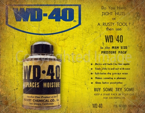 Wd-40 de Metal Vintage para garaje, cartel de estaño, placa de pared