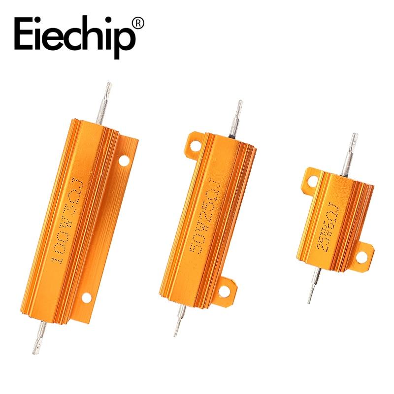 2pcs Load Resistor 50W Power Metal Shell Case Wirewound LED Decoder 6ohm 8ohm 10ohm 12ohm for Brake Turn Signal Light