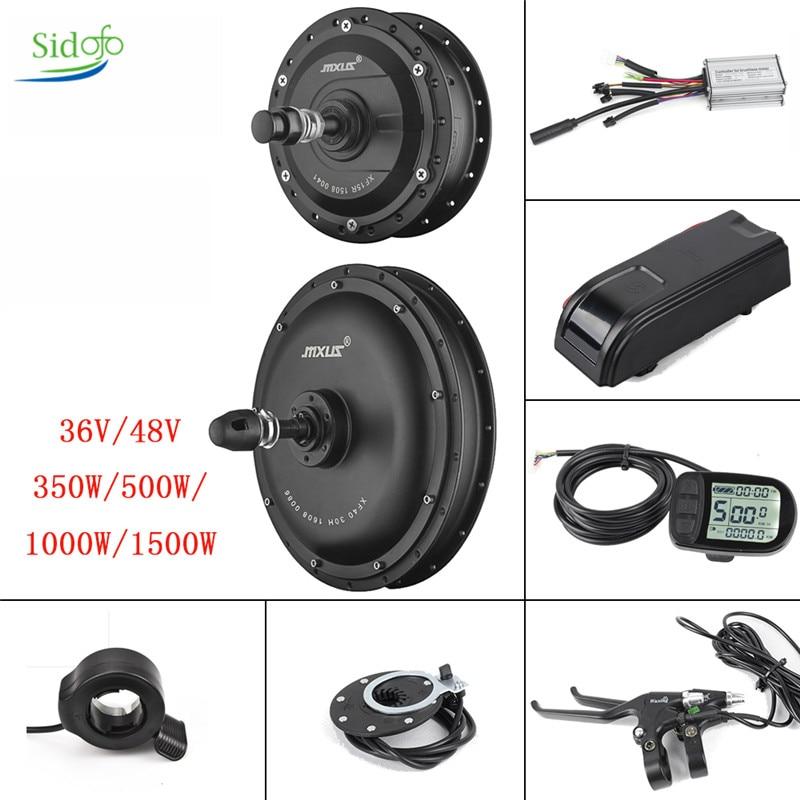 MXUS XF 15F/15R/40 Kit de conversión de Bicicleta eléctrica 36V/48V 350W/500W/1000W/1500W pantalla...