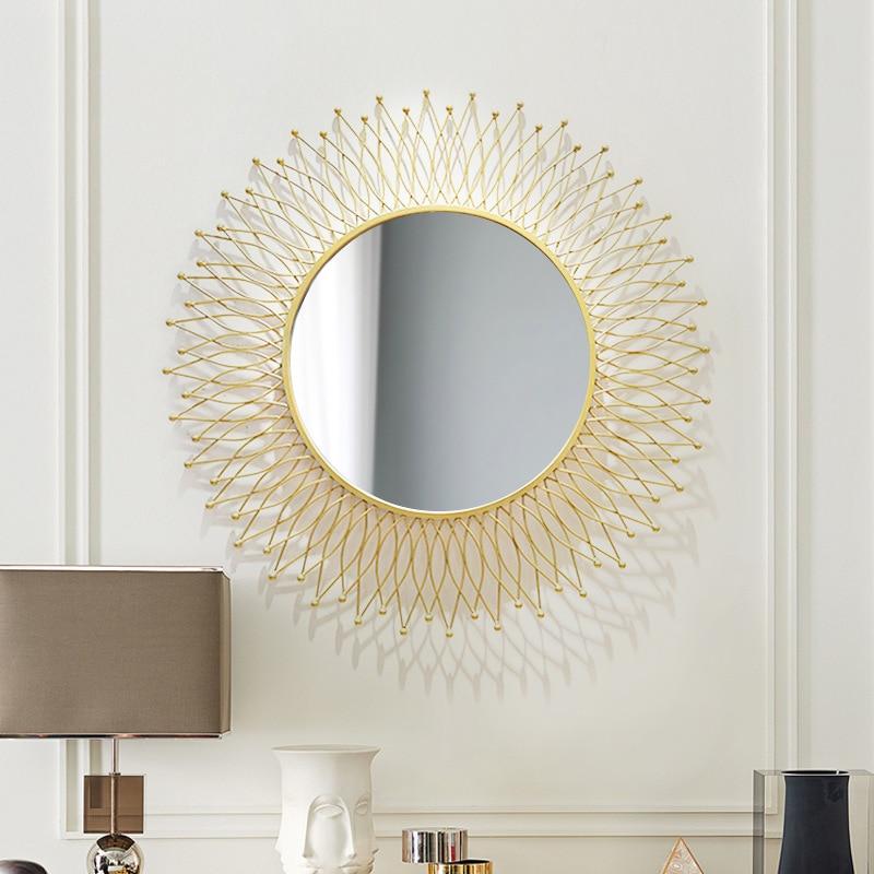 مرآة زخرفية على الطراز الأمريكي للمدخل المستدير ، مرآة خلفية غرفة المعيشة ، نظارات شمسية معلقة على الحائط ، مرآة غرفة الطعام ، مرآة الخزانة