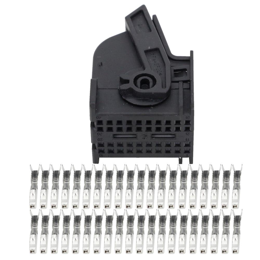 40-контактный черный разъем, автомобильный жгут проводов, разъем с клеммой 967286-1, Φ 40 P, автомобильный разъем