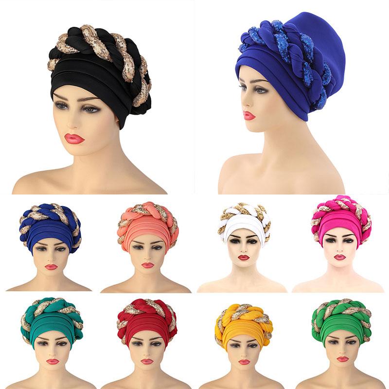 Новинка 2021, женский головной убор, тюрбан, головной убор Baotou, головной убор для африканских женщин, головной убор, головной убор в этническом...