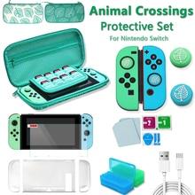 Набор аксессуаров для игры «пересечение животных» для Nintendo Switch, дорожная сумка для переноски, защитный чехол, Стик для большого пальца, колпачки для захвата, кабель для зарядки