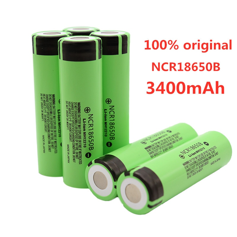 100% nueva batería recargable de ion de litio 18650 V 3,7 mAh 3400 NCR18650B para uso en baterías de linterna Panasonic
