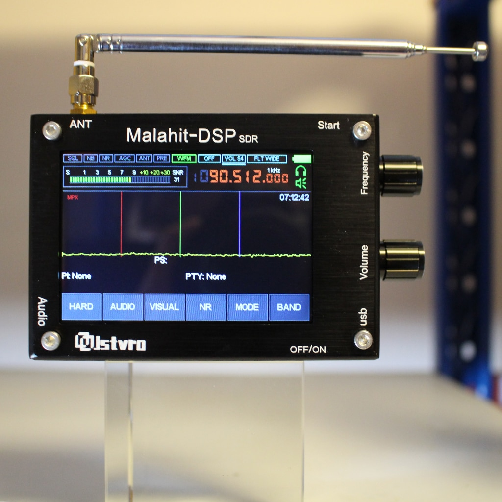 Malahit DSP SDR راديو استقبال مجموعة 50KHz-200MHz برنامج الملكيت تعريف راديو مقشر سبائك الألومنيوم