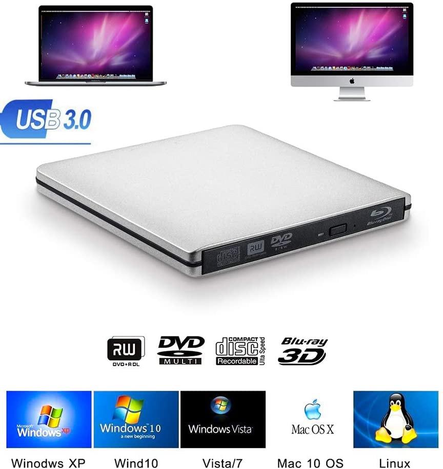 Externa Blu-ray quemador unidad USB3.0 DVD 3D Slim Unidad óptica grabador Blu-Ray...