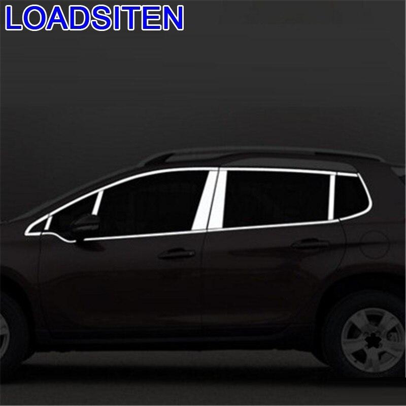 Car Auto Modified Chromium Window Trunk Foot Pedal Rear Bumper Exterior Modification Accessory Trim 18 19 FOR Peugeot 2008