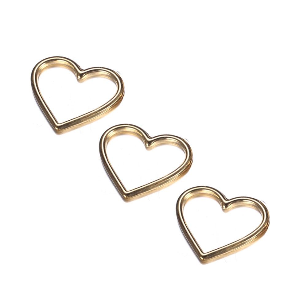 10 unids/lote Color oro y plata hueco amor en forma de corazón encantos de acero inoxidable colgante de corazón para la fabricación de la joyería DIY Accesorios