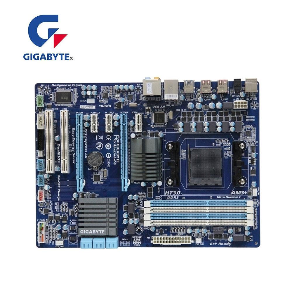 لوحة أم مستعملة لكمبيوتر سطح المكتب جيجا بايت GA-970A-D3 نوت 1.x USB3.0 SATA3 970A-D3 اللوحة الأم AM3 + DDR3 لـ AMD 970