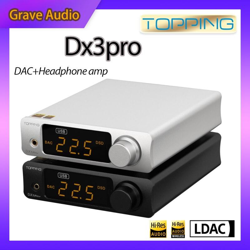 TOPPING DX3PRO + DX3 برو زائد HIFI DAC مضخم ضوت سماعات الأذن XU208 DSD256 ES9038Q2M عالية الدقة فك Preamplifier