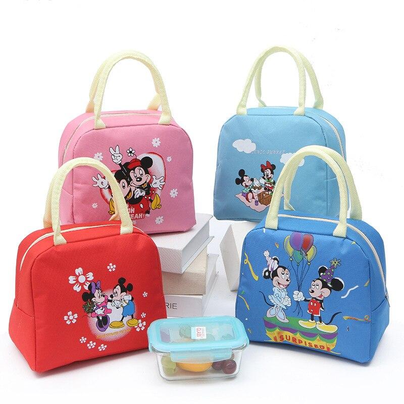 Bolso de lona con diseño de Disney para niños y niñas, bolsa de lona informal con diseño de Mickey mouse, esposas, fiambrera, 2020