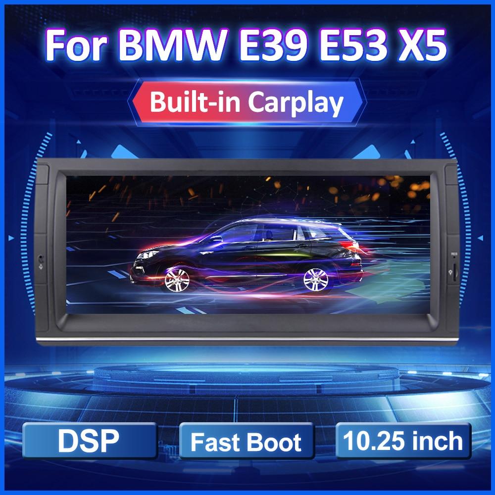 Eunavi-راديو السيارة Android 10 ، 10.25 بوصة ، نظام تحديد المواقع العالمي للملاحة ، DSP ، Carplay ، مشغل وسائط ، 1 Din ، بدون DVD ، لسيارة BMW E53 ، E39 ، X5