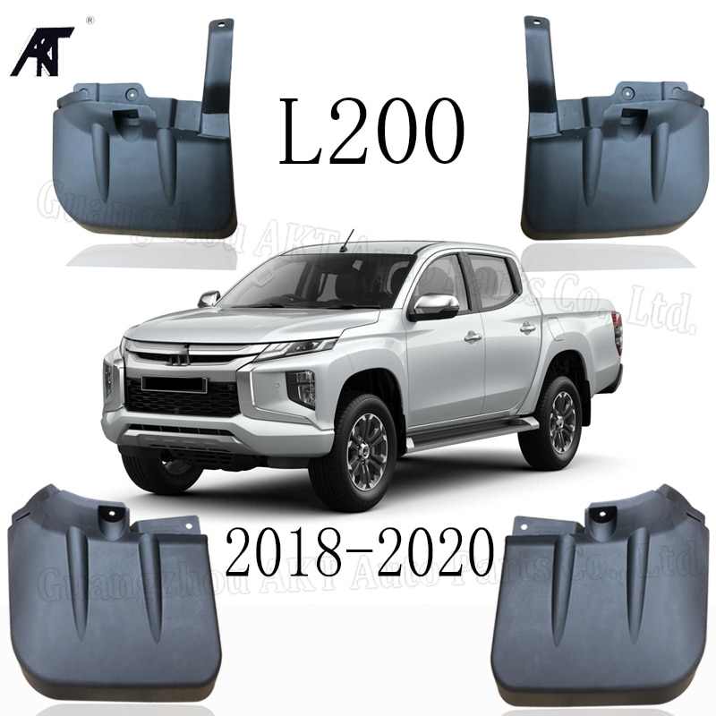 Шаблон щитка грязи для MITSUBISHI L200 TRITON 2018 2019 2020 Автомобильные Брызговики брызговиков крыло брызговиков