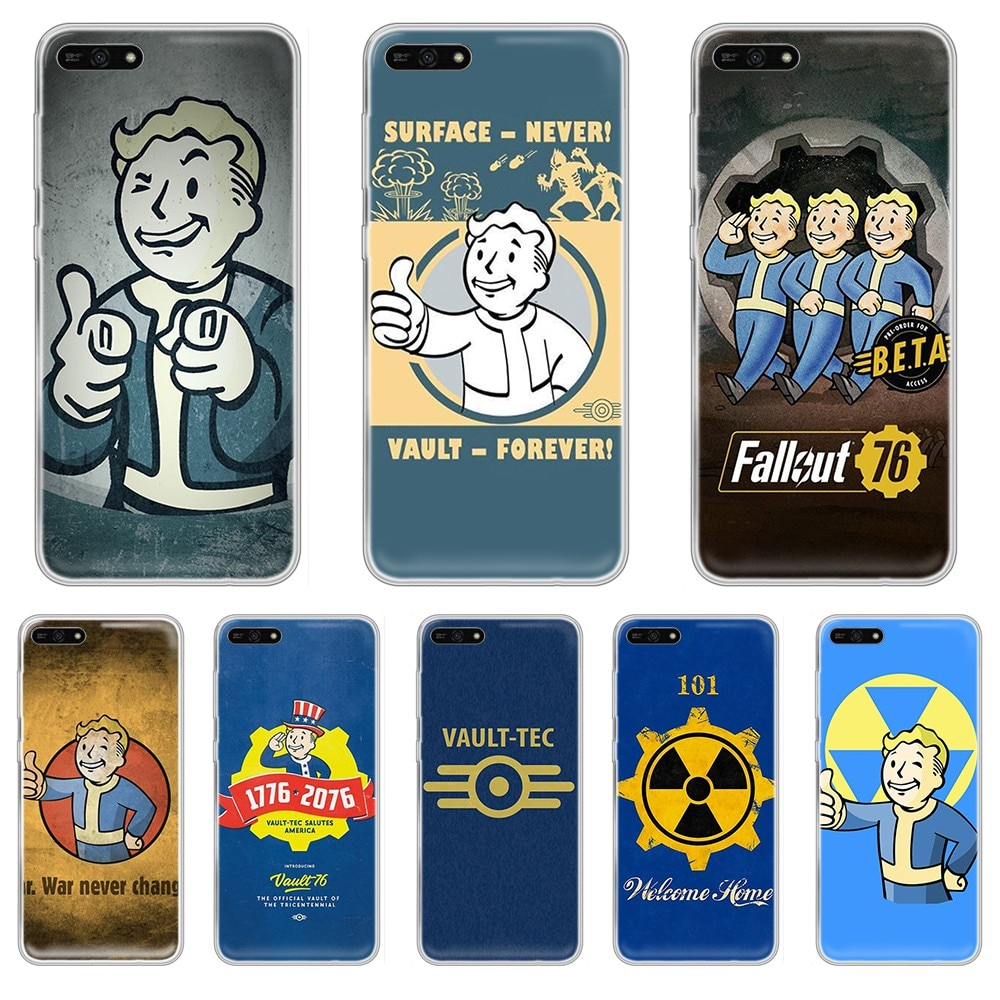 Fallout 4 Vault boy juego suave primer shell caso de teléfono transparente para el HUAWEI honor amigo 7A 8S 8X 9 9X 10 20 30 pro lite