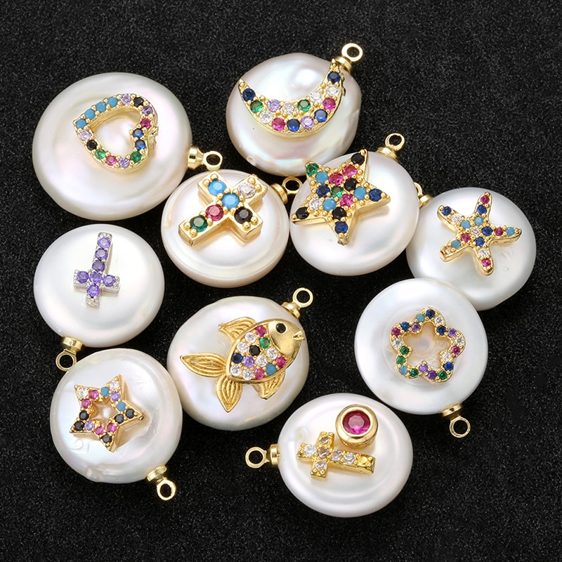 ZHUKOU 18 estilos colgante de perlas de cristal de alta calidad para collar hecho a mano DIY pendientes pulsera accesorios de joyería modelo VD513