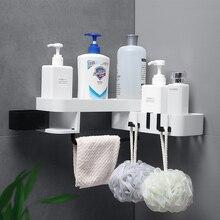 Organiseur de salle de bains cuisine   Coin rotatif, rangement de salle de bains, douchette étagère murale, accessoires de salle de bains