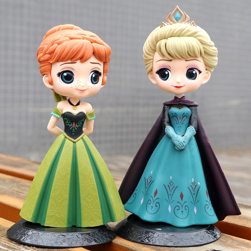 Brand New Disney Frozen Princess 4pcs Anna Elsa Action Figures PVC Model Dolls Collection Birthday Gift Kids Toys birthday gifts недорого