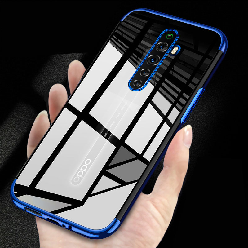 Electroplated Case For OPPO RENO 2Z 2F Case Silicone Soft Back Cover For OPPO RENO 2 Z F Case OPPO R