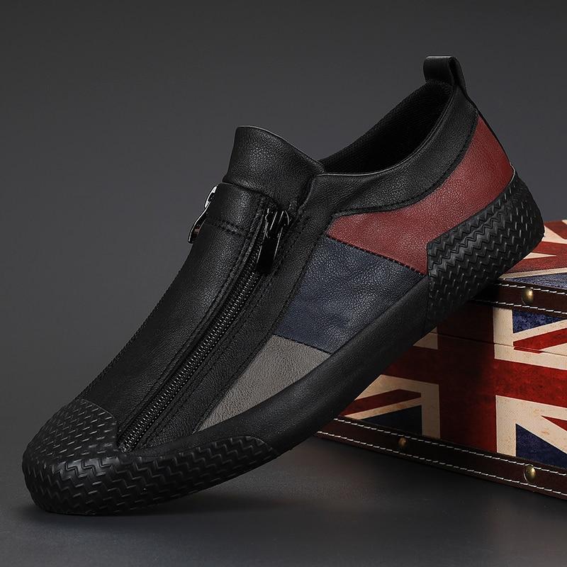 الرجال أحذية مفلكنة الربيع/الخريف مصمم أحذية رياضية تنفس حذاء رجالي أحذية لينة وحيد مريحة حذاء كاجوال الشقق