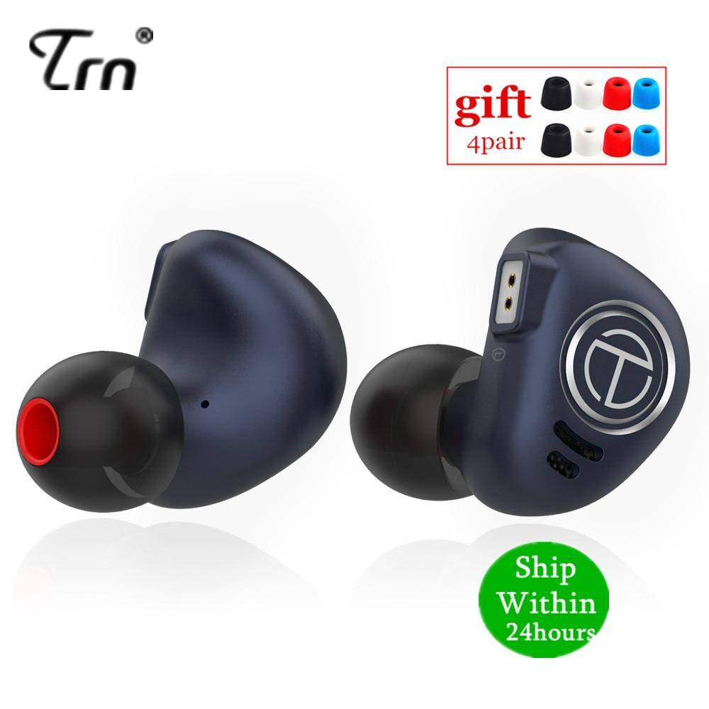 Auriculares de Metal TRN V90 1DD 4BA, unidades híbridas auriculares con graves HIFI auriculares con Monitor de oído, auriculares con cancelación de ruido V80 ZSX V30 X6 C
