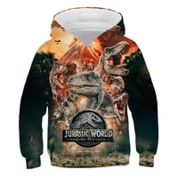 jurassic park boys clothes hoodies jacket for girls dinosaur sweatshirt with hood childrens coat baby clothes autumn toddler