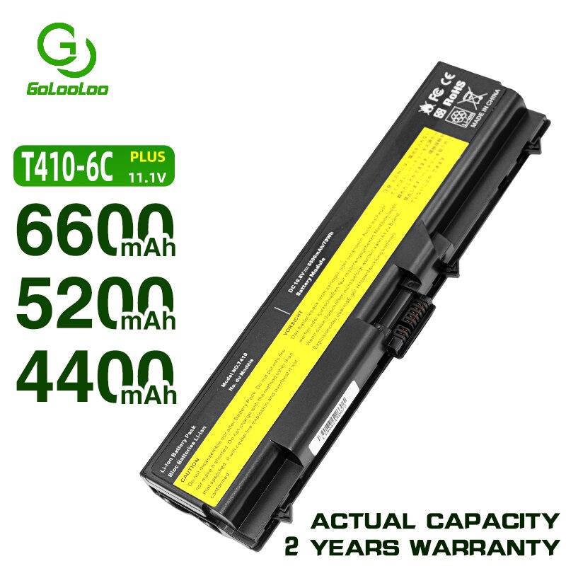 Golooloo T520 batería para Lenovo ThinkPad Edge L410 T420 L420 T510 E40 E50 L512 W510 W520 L412 L421 L510 L520 SL410 SL510 T410