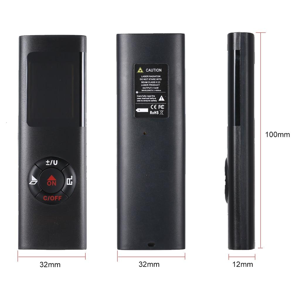 laser distance meter  40M Smart Digital Range Portable USB Charging Rangefinder Mini Handheld Distance Measuring Meter handheld laser distance meter 100 meters infrared electronic ruler room measuring instrument