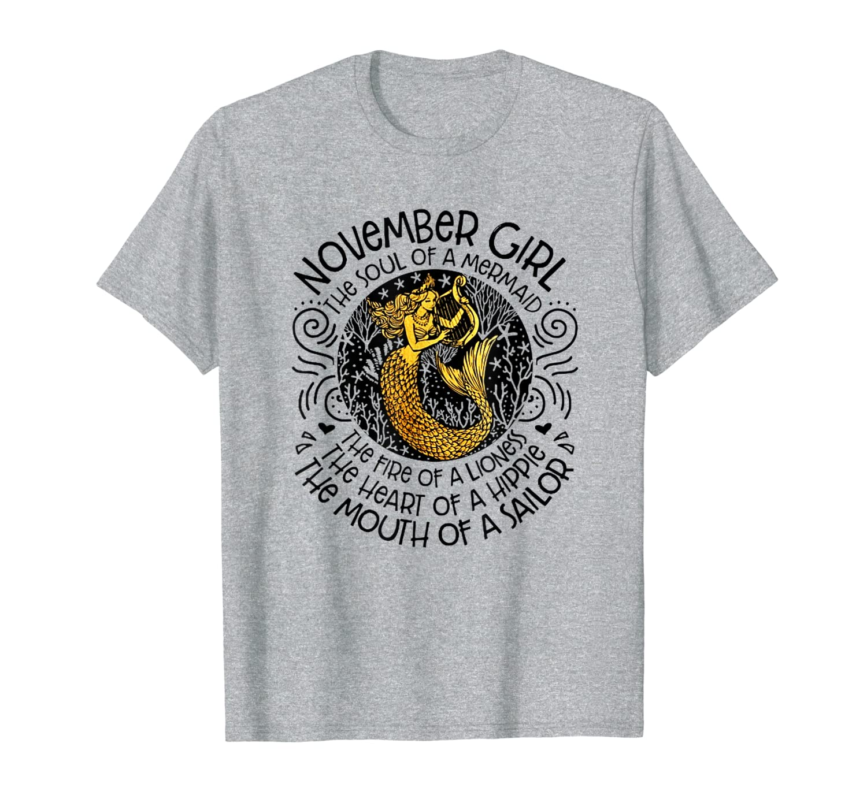 granger b the november man November girl the soul of a mermaid T-shirt
