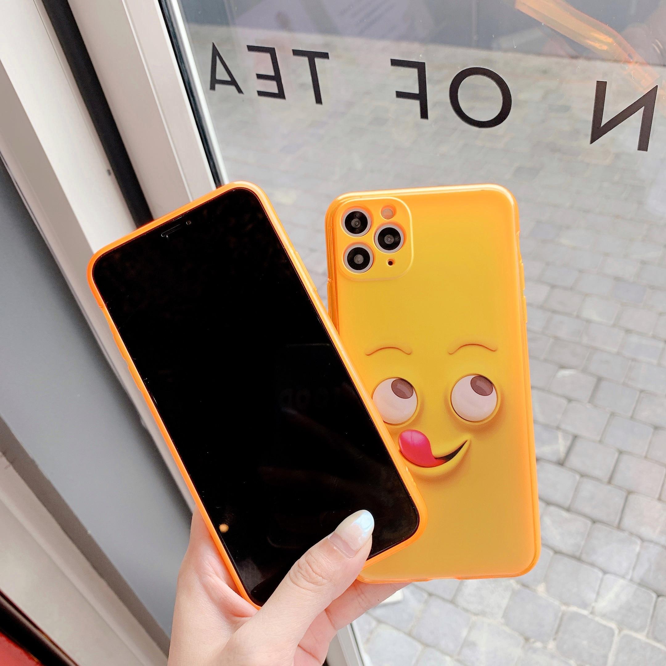 AppleiPhone 7 6 6s 8 Plus X XR XS Max divertido teléfono caso suave de moda Squ teléfono caso
