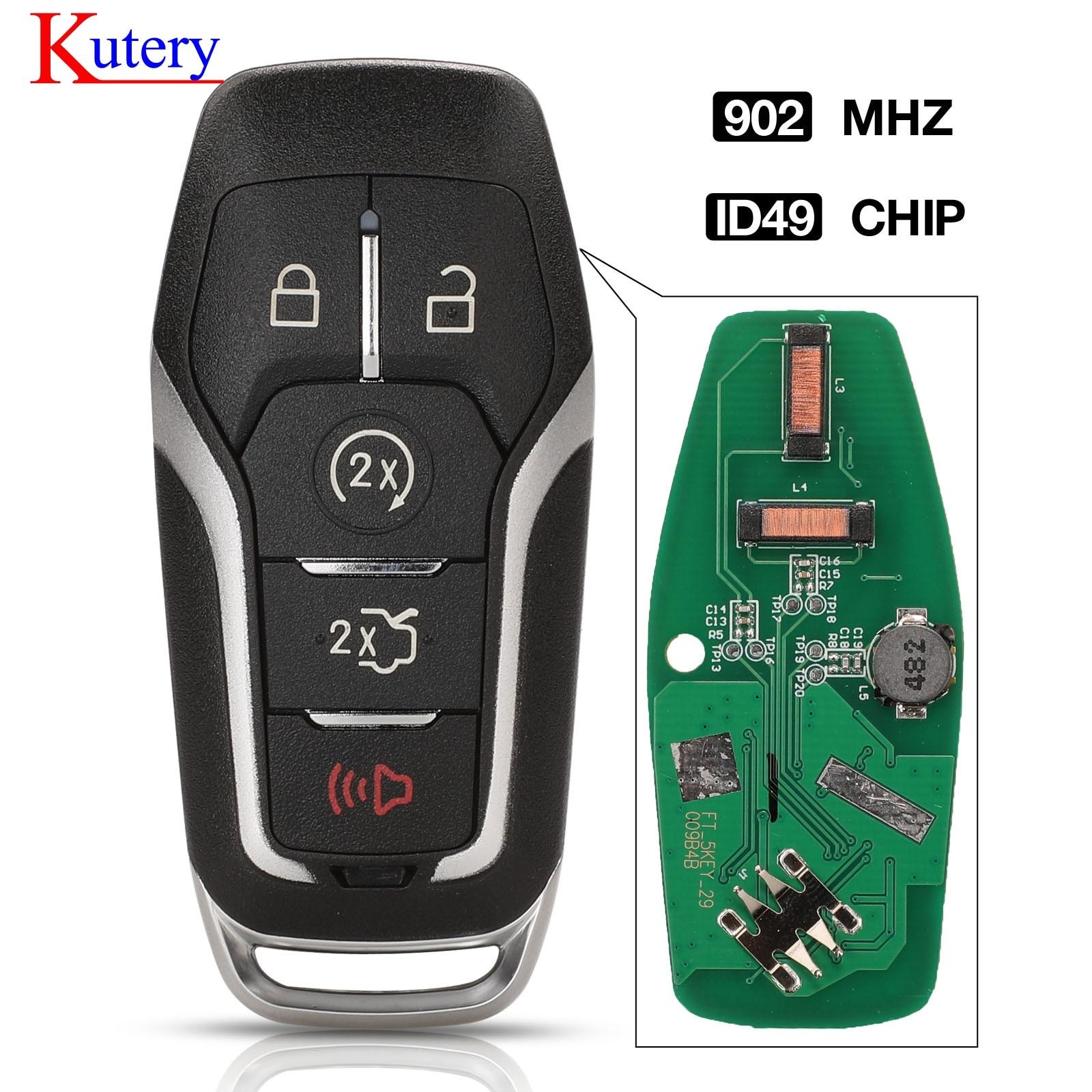 Kutery 4 + 1 botón remoto Inteligente 902 MHz HITAG PRO FCCID m3N-A2C31243300 para Ford Fusion Explorer borde Mustang 2013-2017