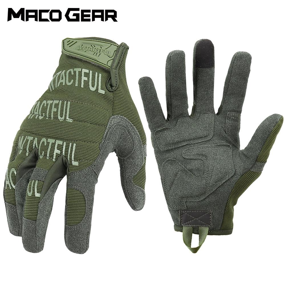 Страйкбол тактические перчатки зеленые велосипедные перчатки полный палец походный армейский светильник для вождения мягкие прочные длин...