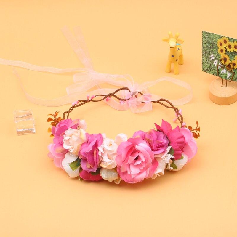 AliExpress - Miss Cute Girl Sweet Princess Headband Floral Crown Flower Headband Wedding Party Hair Wreath Boho Bridal Headdress