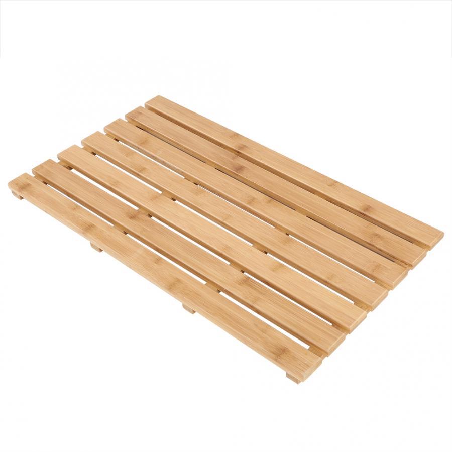 Anti-skid Bath  Bamboo Duckboard Rectangular Bamboo Slatted Duck Board Non-Slip Bathing Shower Mat Bathroom Accessories