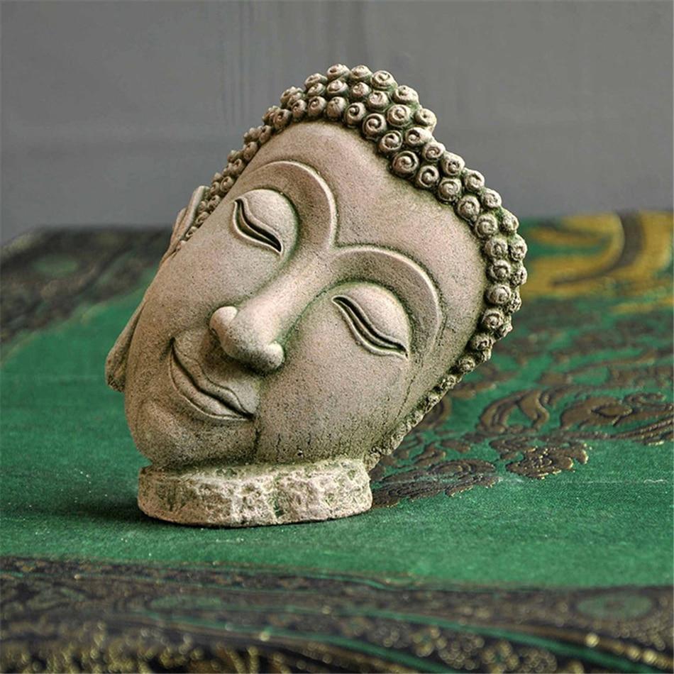VOGVIGO Crafts Sand Sculpture Buddha Statue Town House Zen Statue Decoration Ornaments Garden Landscape Home Accessories